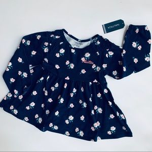 Nautica 3T Navy Floral Tunic Top/ Dress